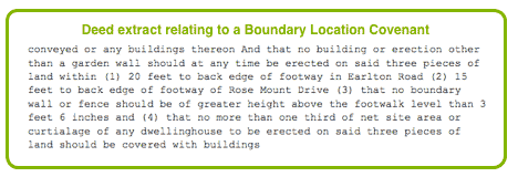Boundary Location Covenant