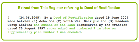 Deed of Rectification