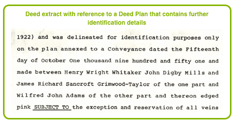Reference to a Deed Plan