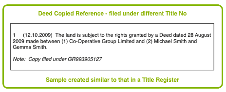 Land Registry Restrictions >> Using the Title Register