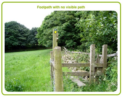 Footpath with no visible path