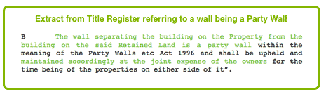 Reference to a Party Wall