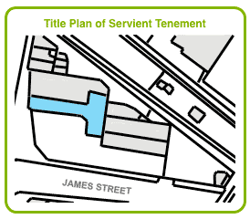 Title Plan for Servient Tenement in Licence Agreement