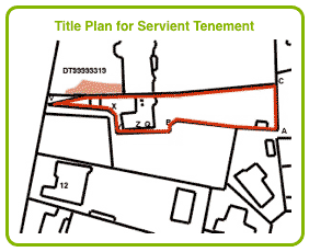 Title Plan for Servient Tenement